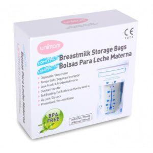 Túi Trữ Sữa UNIMOM Basic Hàn Quốc Hộp 30 Túi (210ml)